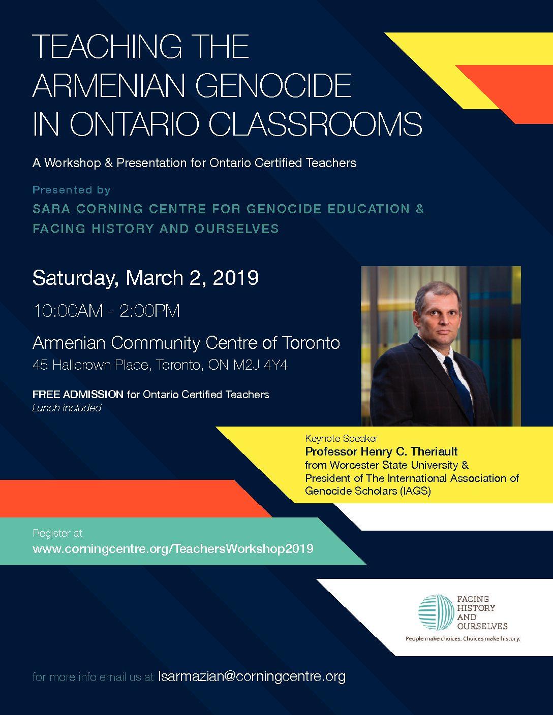 Teaching the Armenian Genocide in Ontario Classrooms – Armenian